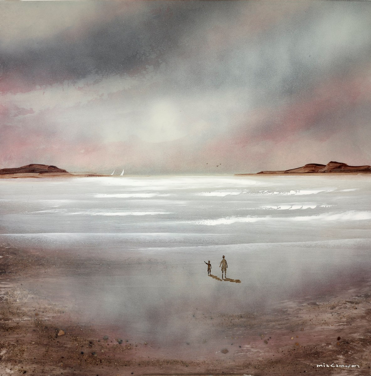 Blush of Dawn I by mia cameron -  sized 16x16 inches. Available from Whitewall Galleries